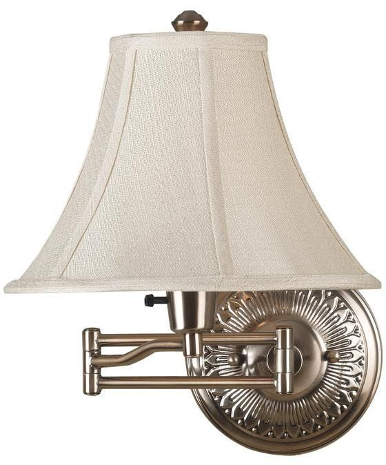 kenroy home amherst bronzed brass wall swing arm lamp