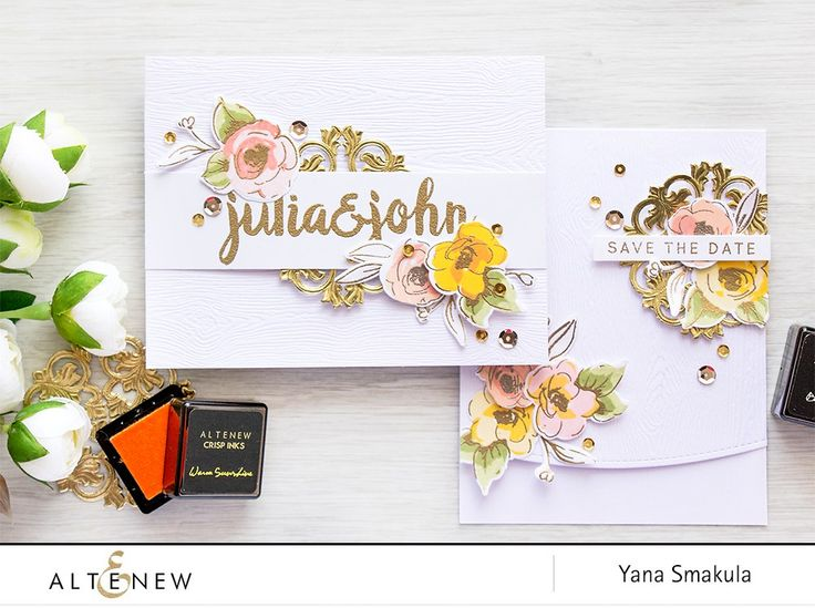 With Summer always being a busy Wedding season I couldn't help but share a few handcrafted wedding items (Wedding Invitations & Save The Dates) I made for my cousin's wedding that took place this past
