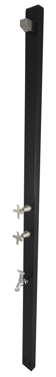 Aussie Wall Mounted Powder Coated Outdoor Shower Hot and Cold Model with Foot Wash - ABL Tile & Bathroom Centre