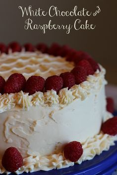 Almond Cake with Raspberry filling and White Chocolate Icing Recipe - perfect for Valentine's Day!