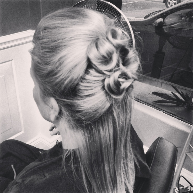 Simple hair up by me