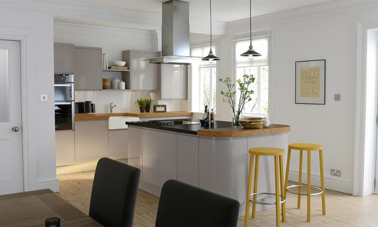 Handleless Cashmere Gloss Kitchen image 1 from wren kitchens