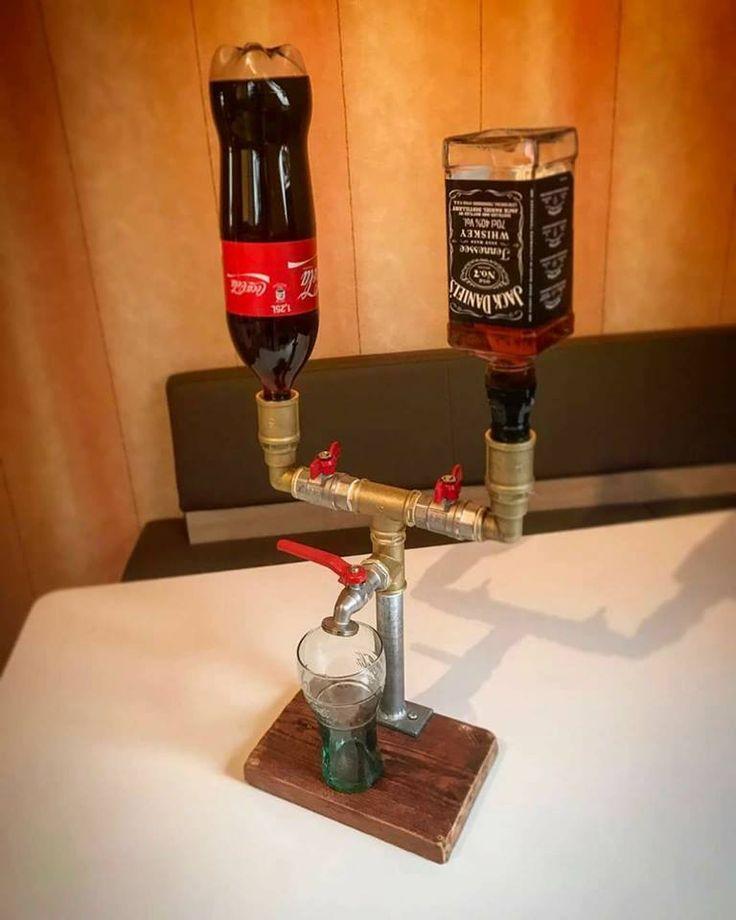 drink mixer.  Precarious but hilarious
