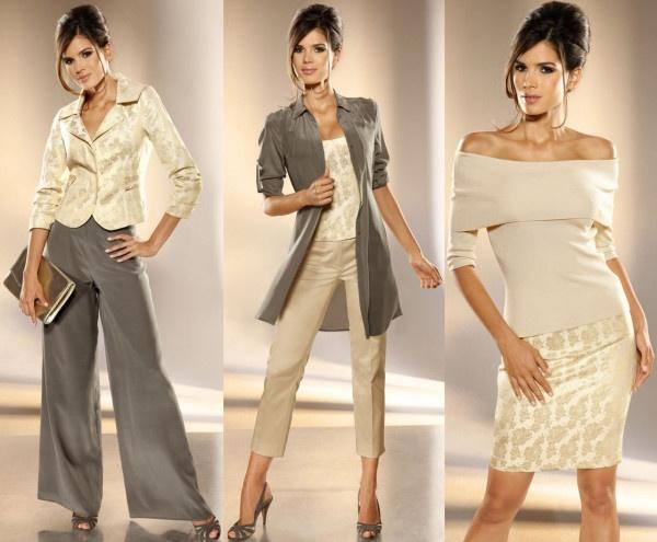 sacou din jacard auriu in combinatii cu pantaloni si fusta. Care este varianta care va place cel mai mult? #sacouauriu
