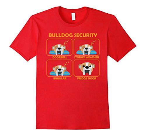 English Bulldog shirt | Bulldog Security | Funny Bully Gift:   I feel so secure with my dog. But do I?? Really?? If you ask yourself this question frequently than this Bulldog Security Funny Shirt is the right piece of apparel for you. This Bulldog Shirt is a great Bulldog Gift idea for a family member, partner or for a friend that owns a Bulldog. Bulldog Security Shirt is going to make you smile each and every time you wear it!  So, what are you waiting for? Grab this unique Bulldog S...