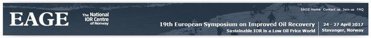 #geocongress 19th European Symposium on Improved Oil Recovery Sustainable IOR in a Low Oil Price World Stavanger, Norway 24 Apr 2017 - 27 Apr 2017. The event will be held at the University Campus of Stavanger. In addition to the technical programme (oral and poster presentations), the symposium will have an opening session with leaders from the area, a panel session for stimulating debate and a social event to enable interaction in a relaxed atmosphere...
