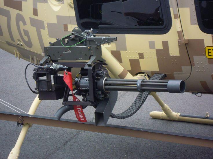 Armed Bell 407 GT Vulcan Gatling Gun | Military, Police ...