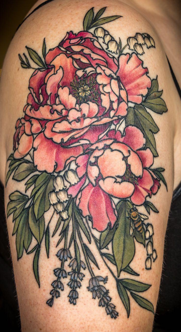 Botanicals by Alice Carrier @ Wonderland Tattoos, Portland, OR