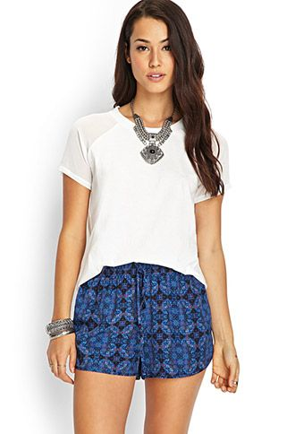 Woven Abstract Dolphin Shorts | FOREVER21 - 2000069321