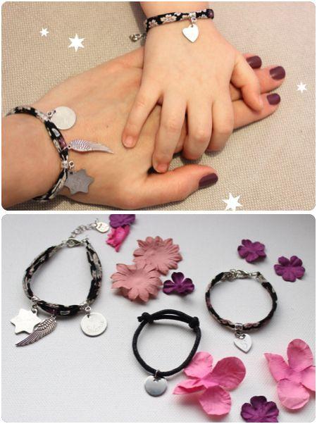 Idée cadeau fête des mères original - bijoux gravés prénom bracelet assorti maman fille cadeau fête des mères or