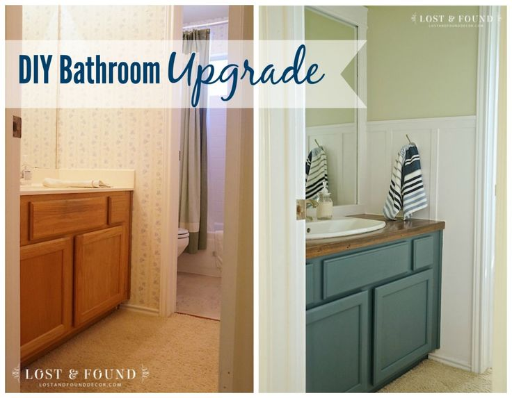 DIY Bathroom Upgrade Reveal   http://www.lostandfounddecor.com/how-tos/diy-bathroom-upgrade-reveal/