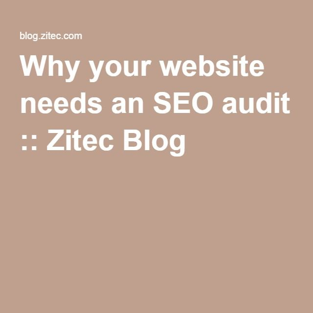 Why your website needs an #SEOaudit