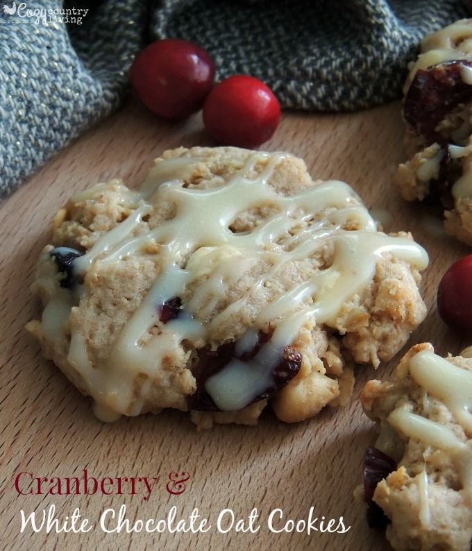 Cranberry & White Chocolate Oat Cookies