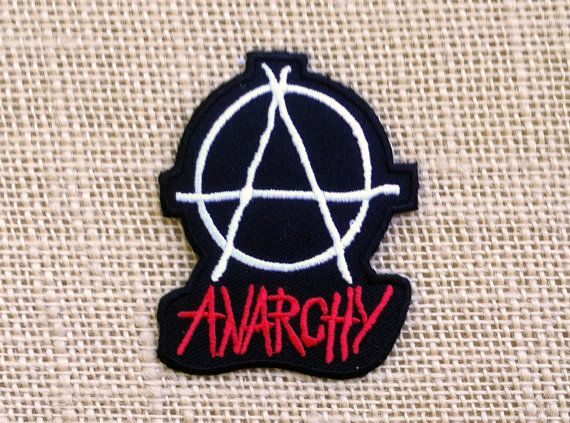 """Patch Anarchy pour vestes chemises pantalons chaussures chapeaux. Motard classique Punk Rock anarchie fer sur Patch 2.75"""" Couture bricolage Punk Patches ou de fer sur"""