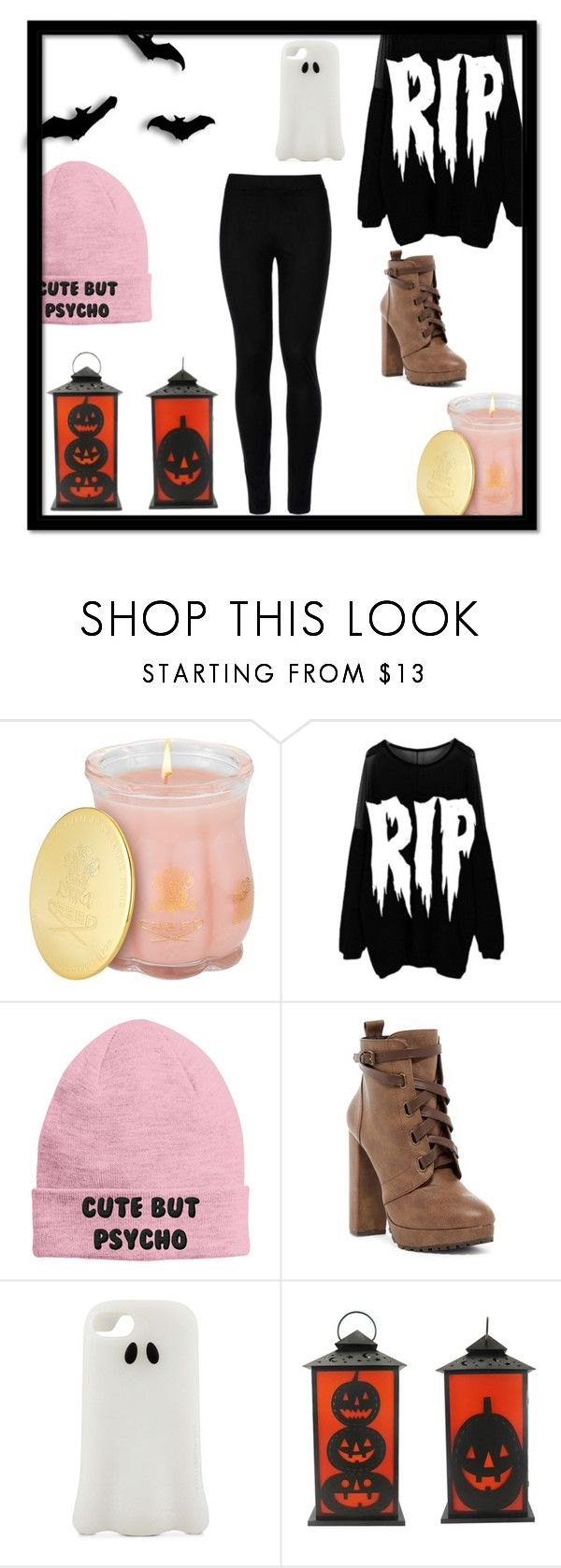 """HALLOWEEN DAY #1"" by dog424lover ❤ liked on Polyvore featuring Creed, Nikki Lipstick, Daya, STELLA McCARTNEY and Wolford"