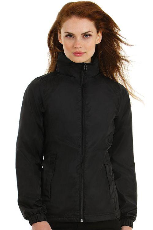 Jachetă de damă Midseason Windbreaker B&C Collection rezistentă la vânt și apă cu acces pentru personalizare. #brodare #geci #jachete #personalizare #imprimare