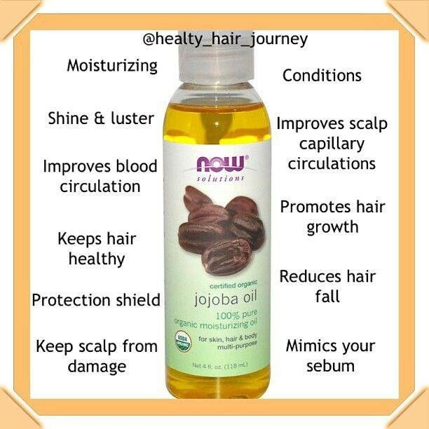 Benefits of Jojoba oil for hair--mimics sebum. Could use on the ends of hair  if dry or if you're not at total sebum coverage yet.