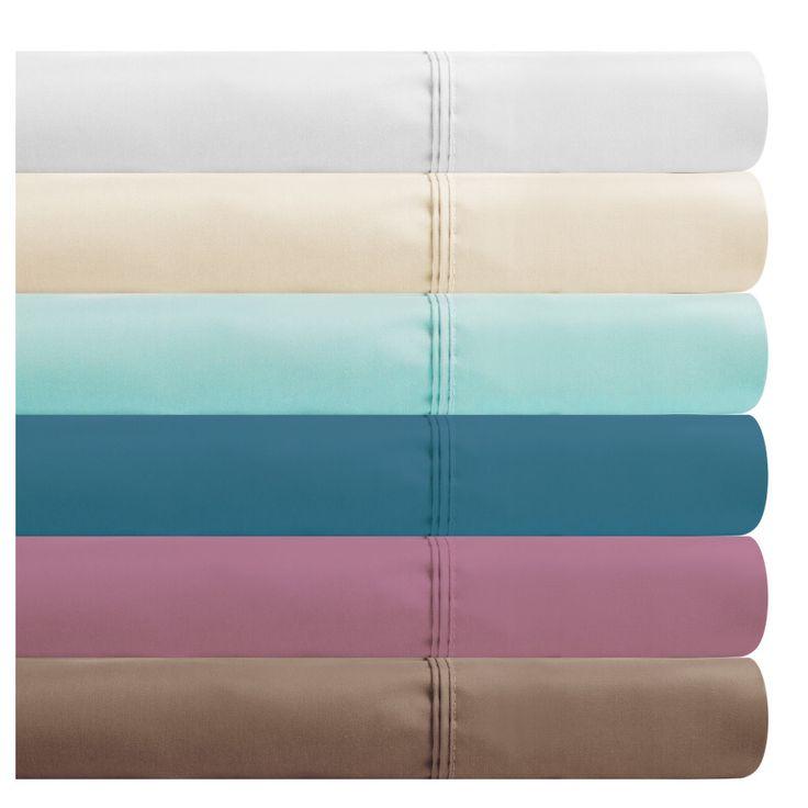 Renue Cotton Rich Single Size Sheet Set - Double Pleated Header - 1000 Thread Count - Various Colours