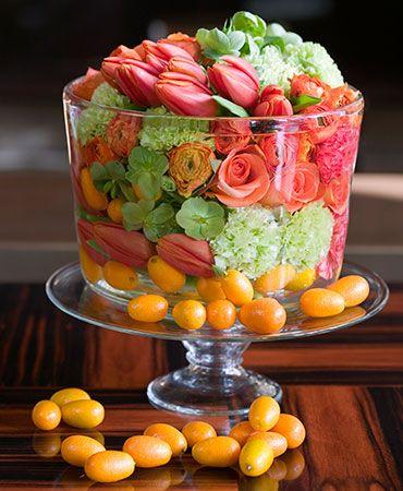 Flower soup: Floral Centerpieces, Idea, Trifles, Flowers Arrangements, Food Web, Dinners Parties, Parties Flowers, Floral Arrangements, Bowls
