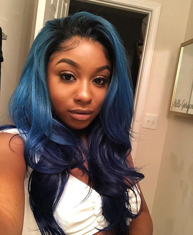 Ig Colormenae Blue Hair Black Girl Hair Styles Blue Hair