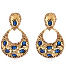 Buy Blue cubic zirconia danglers drops danglers-drop online