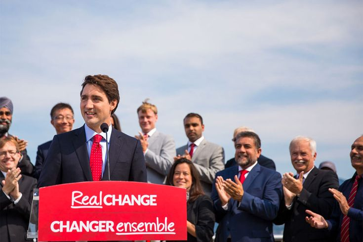 Justin Trudeau's Liberal Party has already won. But this is how the different parties compared on climate change. Liberals are a little vague on emission reduction targets, but still very critical of Harper's environmental policy.  NDP had a robust plan and committed to nation-wide cap-and-trade program.
