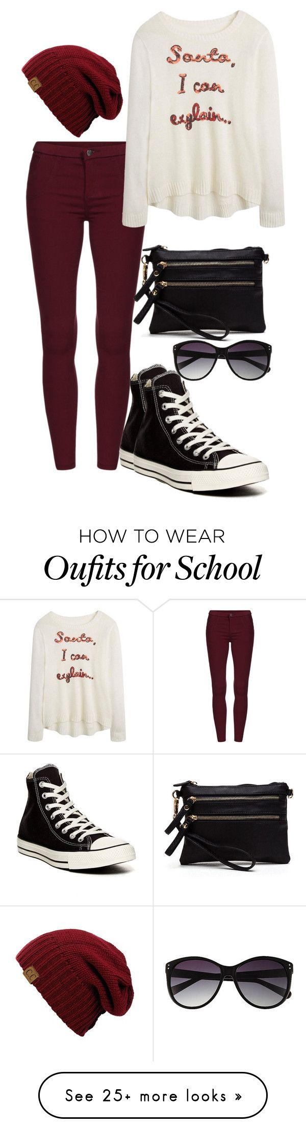 """Christmas At School"" by chap15906248 on Polyvore featuring Converse and Vince Camuto"