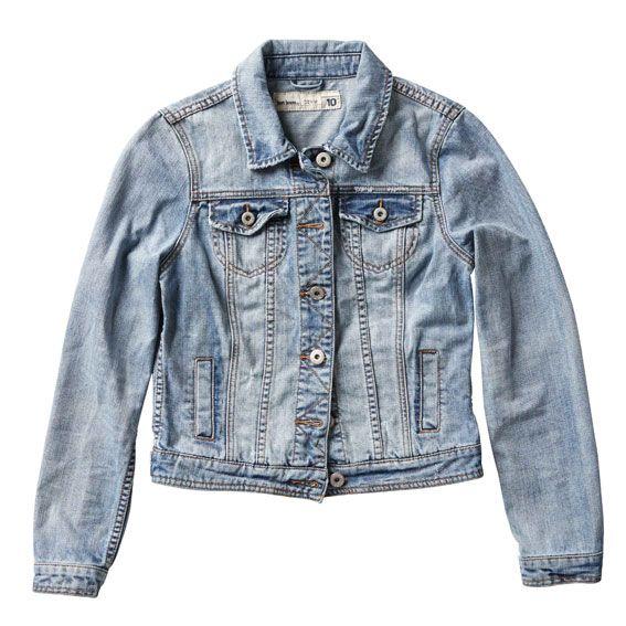 Just Jeans   Womens Distressed Denim Jacket in Summer Sky   $89.99