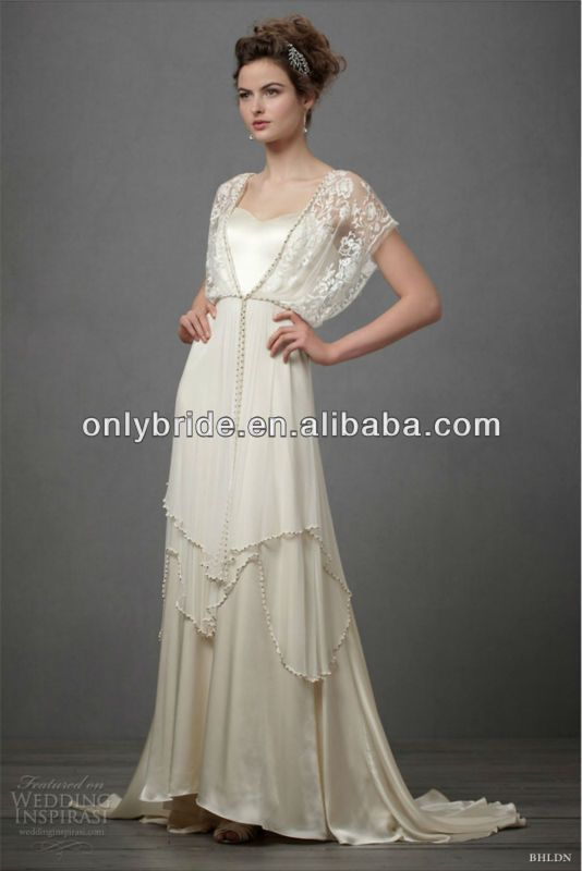 casual lace wedding dress lace beaded 100 silk sleeve pink 2501