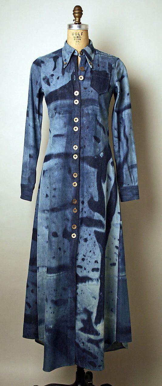 Denim shirtdress, by Serendipity 3, American, mid-1960s.