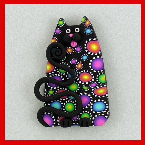 Black Carnival Cat Pin by artsandcats, via Flickr