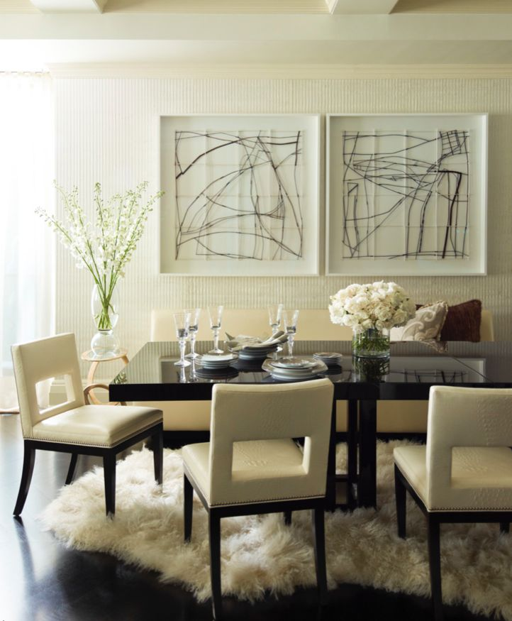 Nice In The Dining Area Of Steven And Candice Starku0027s Apartment, Designed By  Trisha Reger,