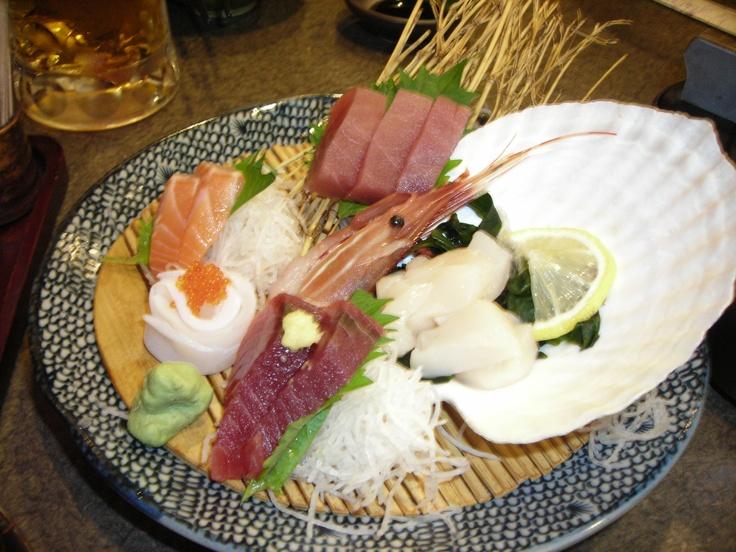 Fresh Sashimi, Hokkaido, Northern Japan