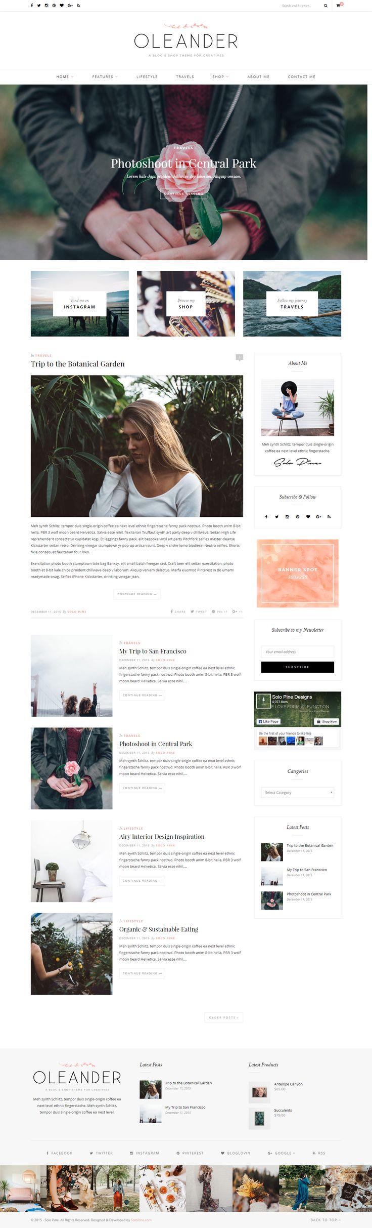 Mejores 133 imágenes de 1,165 + WordPress blog themes & magazine ...