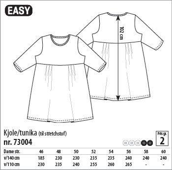 Kjole/tunika - 73004 - Stof & Stil