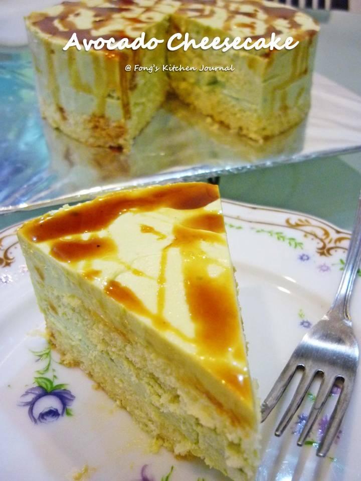 Fong's Kitchen Journal: Avocado Cheesecake with Gula Melaka