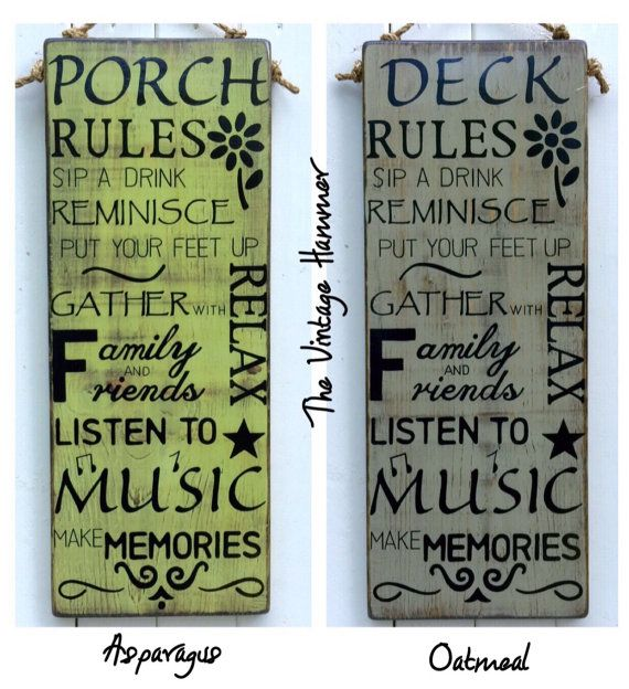 Ships Canada Us Wide Wood Sign: Best 25+ Porch Rules Sign Ideas On Pinterest