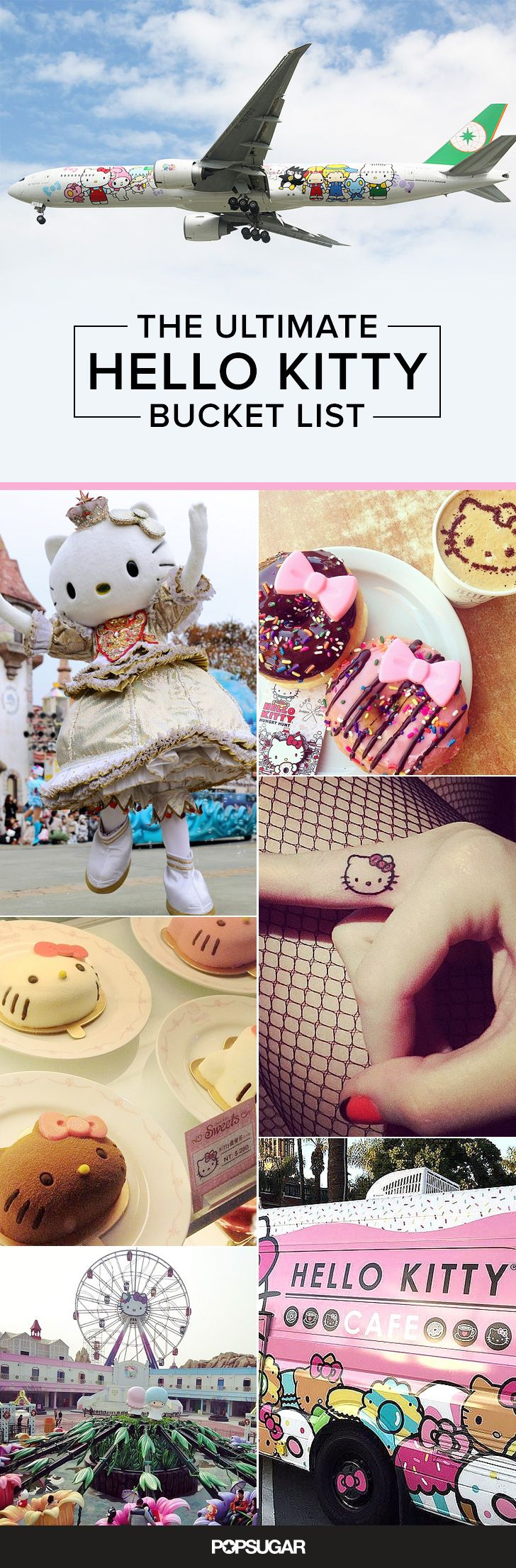 You're not a real Hello Kitty fan until you complete this bucket list. Great summer idea!