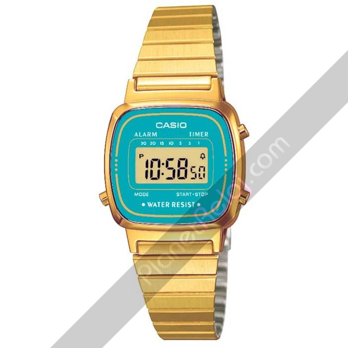 Relojes Casio. Reloj Casio retro dorado LA670WEGA-2EF