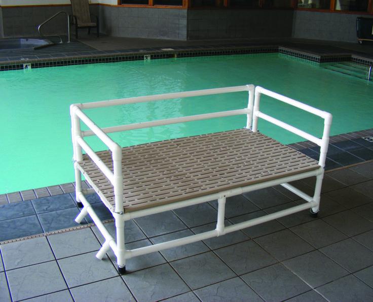 80 best backyard swimming pools images on pinterest for Pool platform ideas