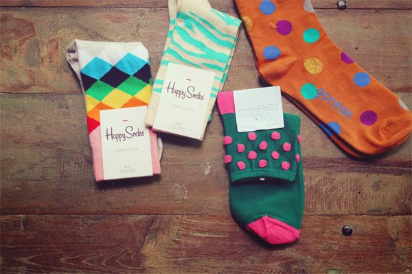 """I've seen flip flop baskets for guests to where dancing at wedding but they seem awkward for dancing… what about fun socks with """"let's dance"""" tags instead? could make for some great pics."""