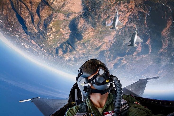 #F-16, Earth's inverted curvature