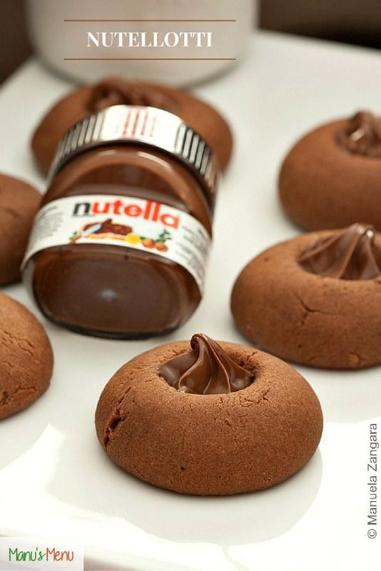Nutellotti - chewy Nutella cookies, filled with more Nutella for #NutellaDay.