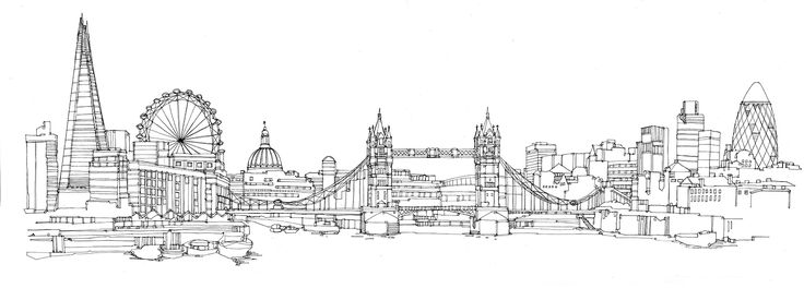 Line drawings of cities