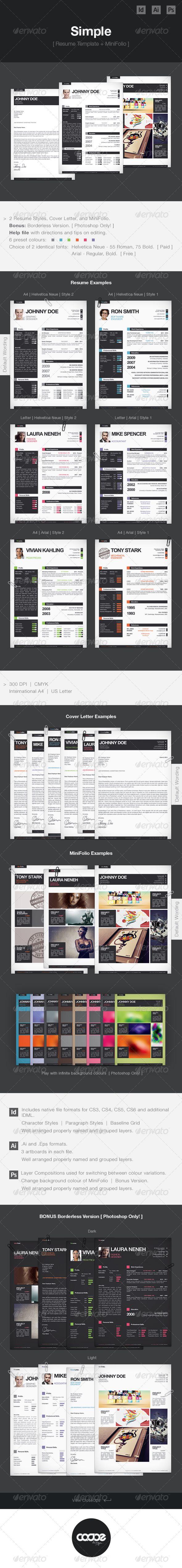 Simple Resume CV Template Mini