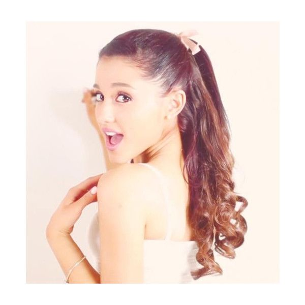 An image of Ariana Grande ❤ liked on Polyvore featuring ariana grande, hair, people, ariana, pictures and backgrounds