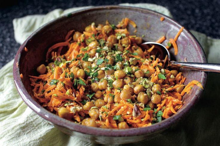This recipe, from uber-popular blogger Deb Perelman's forthcoming book Smitten Kitchen Every Day, bursts with flavor. It's also remarkably versatile, working as an appetizer, side dish or even a light main. If you make it ahead, store the roasted chickpeas and pistachios separately, and add them just before serving so they don't lose their crunch.