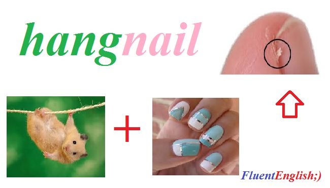hang + nail = hangnail (заусеница)