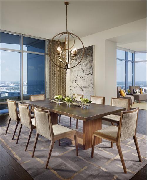 Elegant Contemporary Dining Room by Laura Britt on HomePortfolio