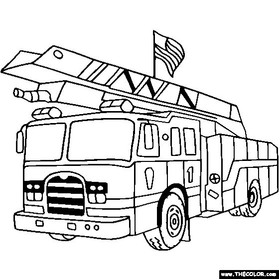 Fire Truck Coloring Page | Color a Fire Truck
